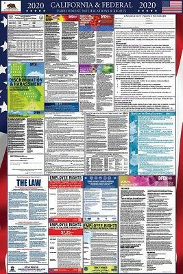2019 California and Federal Laminated Labor Law Poster