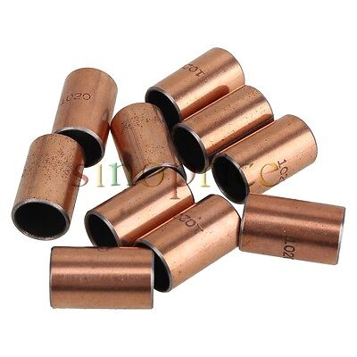 10pcs SF-1 Self Lubricating Composite Bearing Bushing Copper plated 10x12x20mm