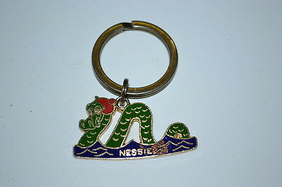 Nessie Loch Ness Monster Snake Rare Vintage Metal Keyring Keychain