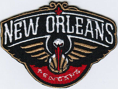 NBA New Orleans Pelicans National Basketball Association Badge Iron On Patch
