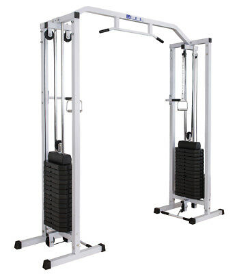 Cable Crossover Machine + Pull Up Bar with 150kg Heavy Weight Stack Multi Gym