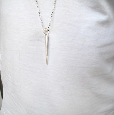 artisan Sword of Gideon solid 925 sterling silver pendant military ball necklace