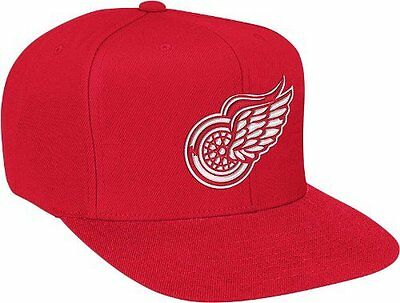Detroit Red Wings Mitchell & Ness NHL Vintage Basic Logo Red Snap Back Hat