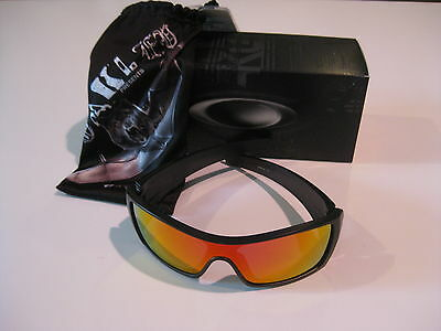 9b6499b9a7 NEW OAKLEY BATWOLF Sunglasses Matte Black Ink Ruby Iridium OO9101-38 ...