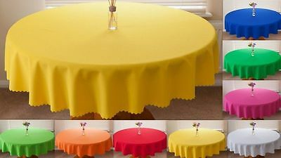 """High Quality Fabric """"PLAIN"""" Tablecloth 100%Polyester  avail. 8 sizes in 30 col."""