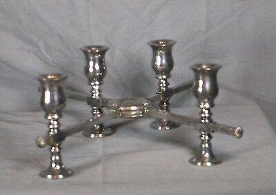 Vintage Dish Cross with Candle Holders