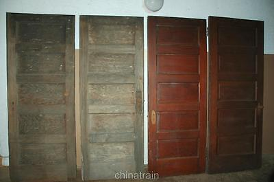 4 Antique Vintage Solid Wood Horizontal 5 Panel House Doors 77-80 x 30-32""