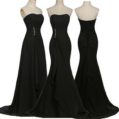 New Formal Long Evening Ball Gown Party Prom Bridesmaid Wedding Cocktail Dress