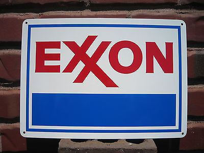 EXXON Gas Station Metal SIGN Service GASOLINE Mobil Pump Advertise