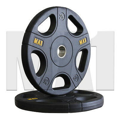 MA1 Pro Olympic Rubber Coated Weight Plates (Pair)