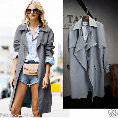 CelebStyle Charcoal Drape Trench Jacket