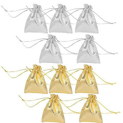 10 Drawstring Organza Wedding Party Favor Gift Bags Candy Jewelry Pouches 12x9cm