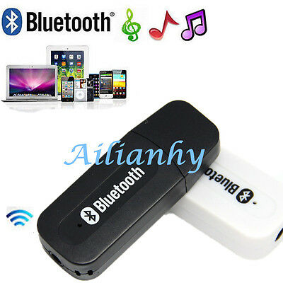 USB Wireless Bluetooth AUX Stereo Audio Music Receiver Adapter Dongle With Cable