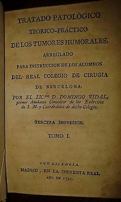 Older Book Tratado patologico 1795 Libro Antiguo