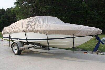 New Vortex Combo Pack Heavy Duty Tan/beige 14 15 16' Boat Cover + Support System