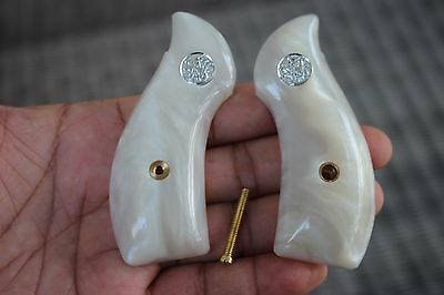 S&W J FRAME GRIPS, Model 60,36, SMITH&WESSON, ROUND BUTT Imitation White Pearl 3