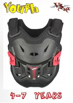 Leatt 2.5 Chest Protector Armour MX Motocross RED 4-7 Years Old Kids PeeWe
