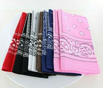 Lot Of 12Pcs Mix Color Randomly Paisley Unisex Head Wrap Wristband Scarf Bandana