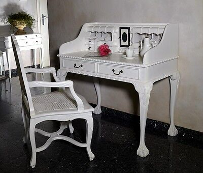 Desk Dressing Table Drawers Secretary Shabby Chic Antique French Style White