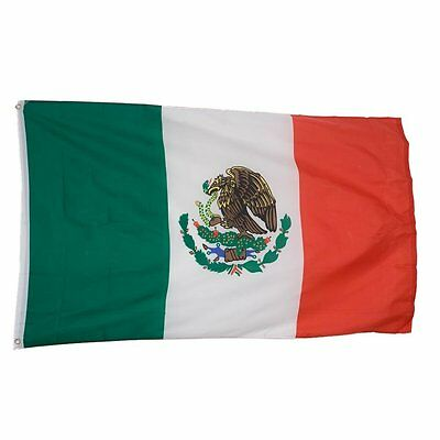 Mexico Country Flag/Banner Size 3' x 5' Polyester Material