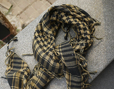 Lightweight Military Arab Tactical Desert Army Shemagh KeffIyeh TAN SAND Scarf