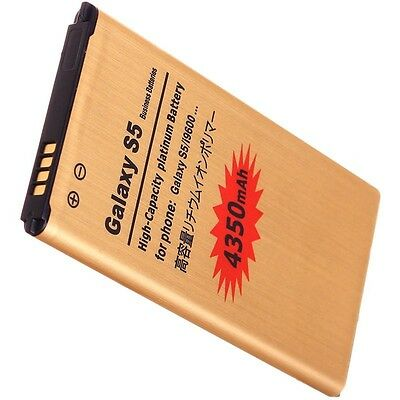 High Capacity Gold 4350mAH for Samsung Galaxy S5 Battery Replacement G900 i9600
