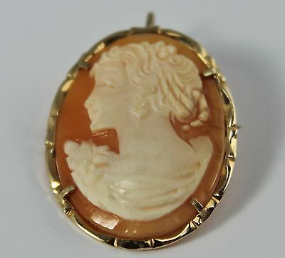 14Kt Yellow Gold Cameo Brooch