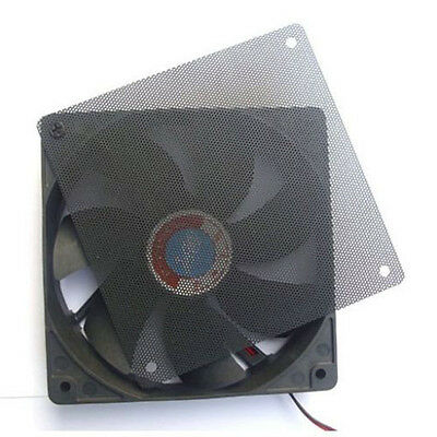 120mm PC Computer Dustproof Cooler Fan Case Cover Dust Filter Mesh With 4 Screws