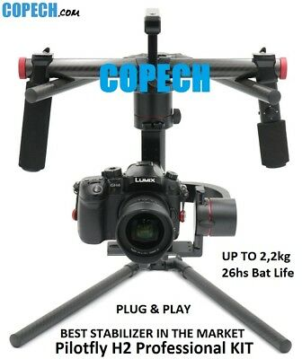 Pilotfly H2 PROFESSIONAL KIT GIMBAL up to 2,2KG 3-AXISf 5D 6D 7D A7S GH4