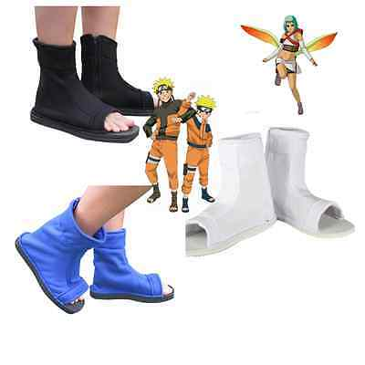Naruto Sasuke Kakashi Uchiha Sasuke Blue white Black Fuu cosplay shoes boots