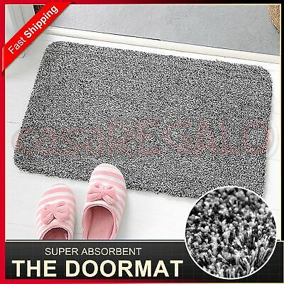 Clean Step Mat Super Absorbent Microfibre Non-Slip Doormat Absorbs Mud & Water