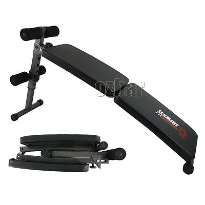 Adjustable Folding Abdominal Sit Up Bench Crunch Fitness Exercise Gym Decline