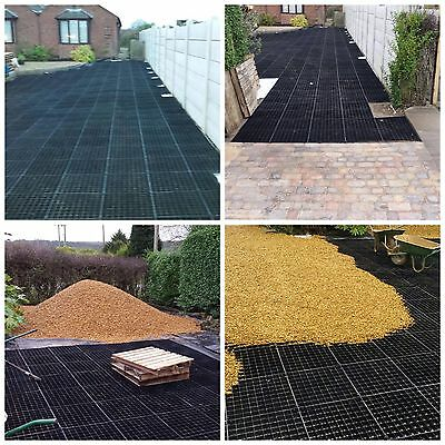 GRID DRIVEWAYS GRAVEL PARKING GRIDS + HD MEMBRANE -PLASTIC ECO BASE GRAVEL sm