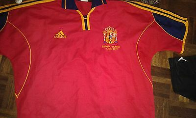 España SPAIN Match Bosnia 2001 L Camiseta Futbol Football SHirt
