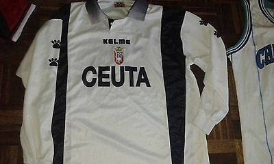 CEUTA CF match Worn 16 XL DIFFICULT Camiseta Futbol Football SHirt