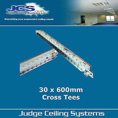 30 x SAS T24 600mm White Shallow Cross Tees - Suspended Ceilings