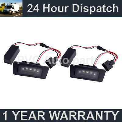 2X For Audi A4 A5 S5 Q5 Tt Aluminium Upgrade 3 Cree White Led Number Plate Lamps