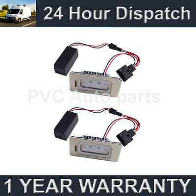 2X For Audi A4 A5 S5 Q5 Tt Aluminium Upgrade 2 Cree White Led Number Plate Lamps
