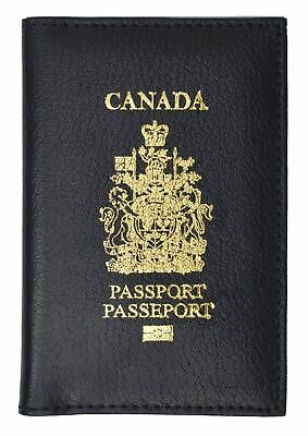 CANADA Travel Leather Passport Organizer Holder Card Case Protector Cover Wallet