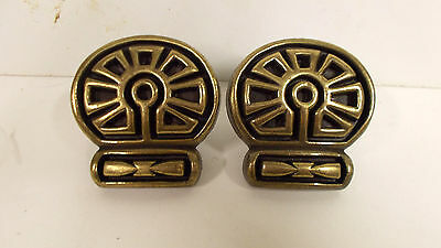 [Lot of 2] Antique Brass Drawer/Cabinet Pulls