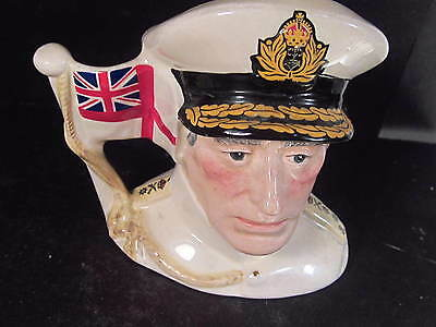 Royal Doulton Vintage D6851 EARL MOUNTBATTEN OF BURMA TOBY 4 ""