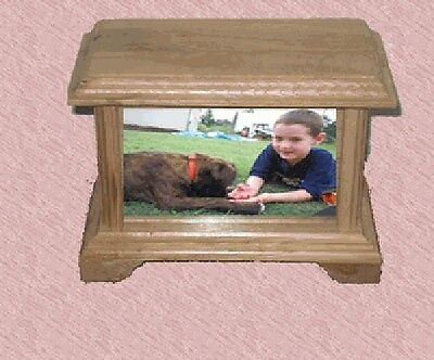 Pet Urn - Oak Mantle Style