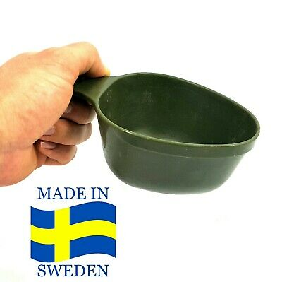 Swedish Military Light Cup Mug Olive Plastic Survival Camp - Army Military Mess
