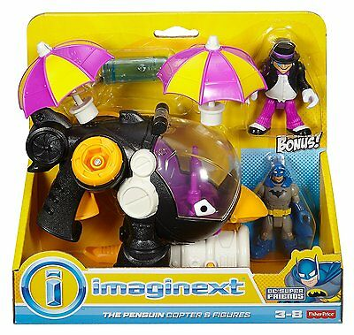 The Penguin Copter Batman Justice Doom Imaginext DC Super Friends icy projectile