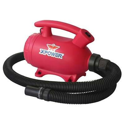 XPOWER B-55 2HP 100 CFM 8.0A 2-in-1 Home Force Air Pet Dryer + Vacuum Pink