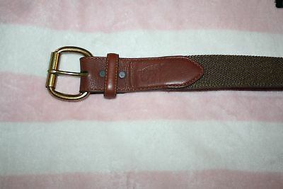 Red Wing Genuine Full Grain Leather Belt With Brass Buckle 22 #96544