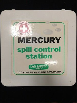 Lot of Mercury Spill Control Station and Safety Helmet