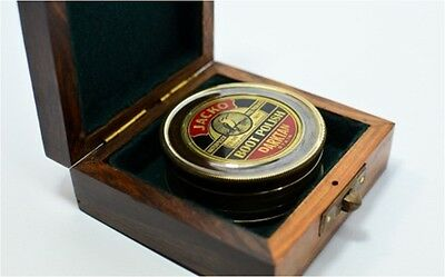 Compass - Jacko Boot Polish Brass Vintage Antique (Rosewood Box)