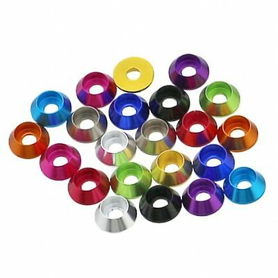 M2 M2.5 M3 M4 Aluminum Socket Hex Cup Head Washer Screw Bolt Washer Multi-Color