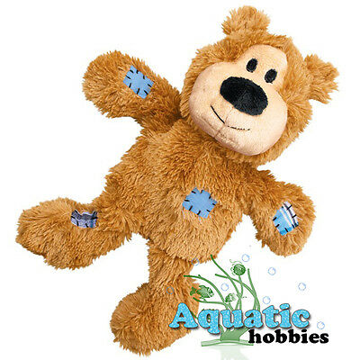 Kong Wild Knots Bear Squeaks Soft Durable Knotted Rope Inside for Dogs Puppy Tug